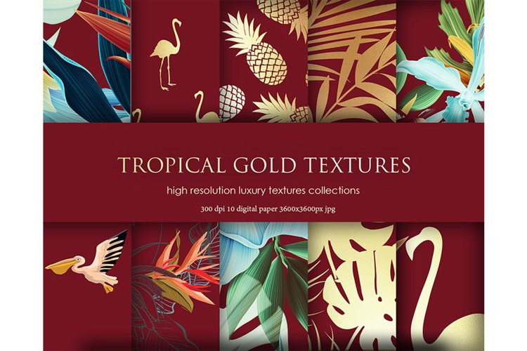 Tropical Flowers Backgrounds example image 1