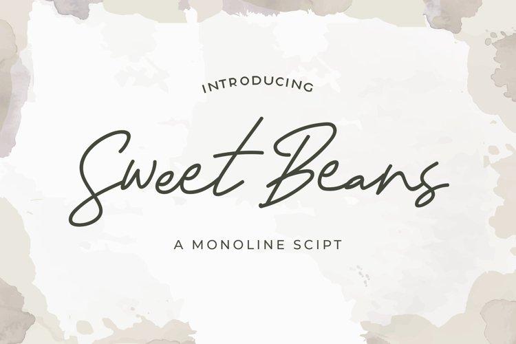 Sweet Beans - Monoline Script Font example image 1