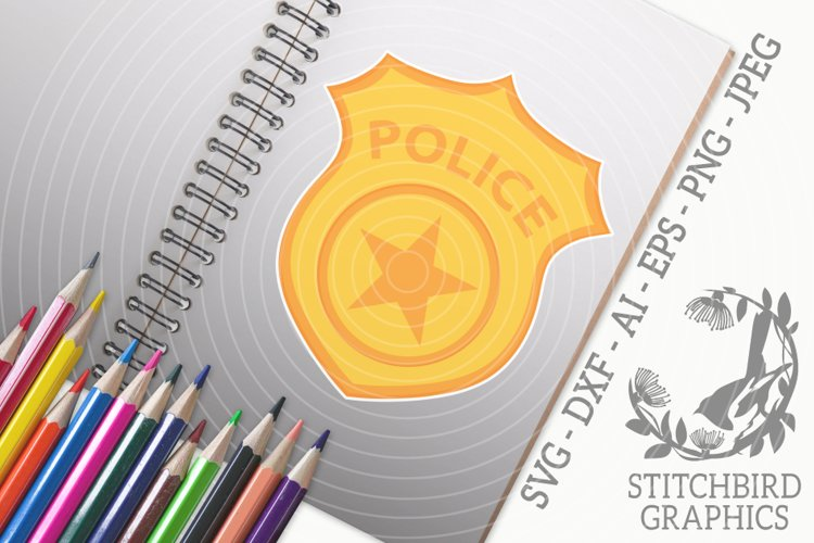 Police Badge SVG, Silhouette Studio, Cricut, Eps, Dxf, AI