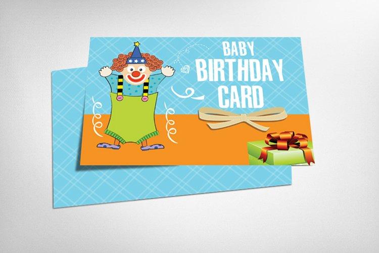 Baby Birthday Card example image 1