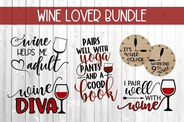 Wine Lover Bundle SVG DXF PNG