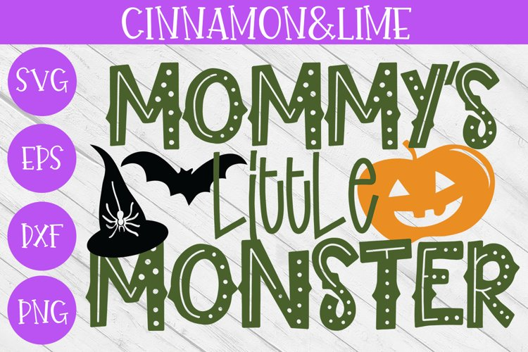 Halloween SVG - Mommys Little Monster Kids Cut File