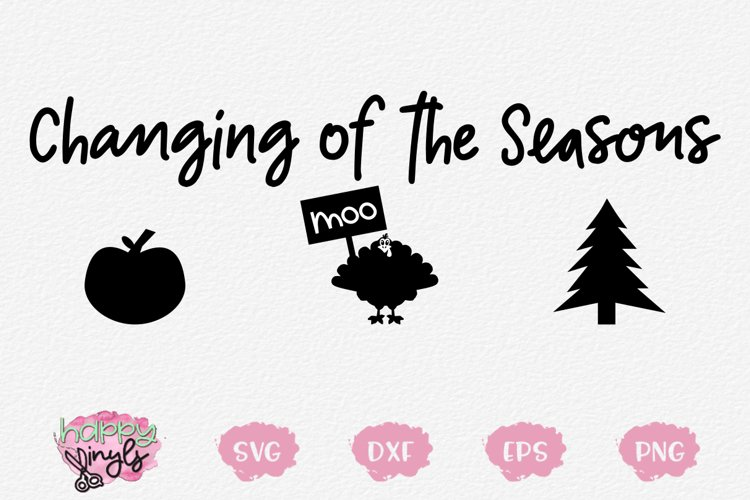 Changing of the Seasons - A Christmas and Thanksgiving SVG