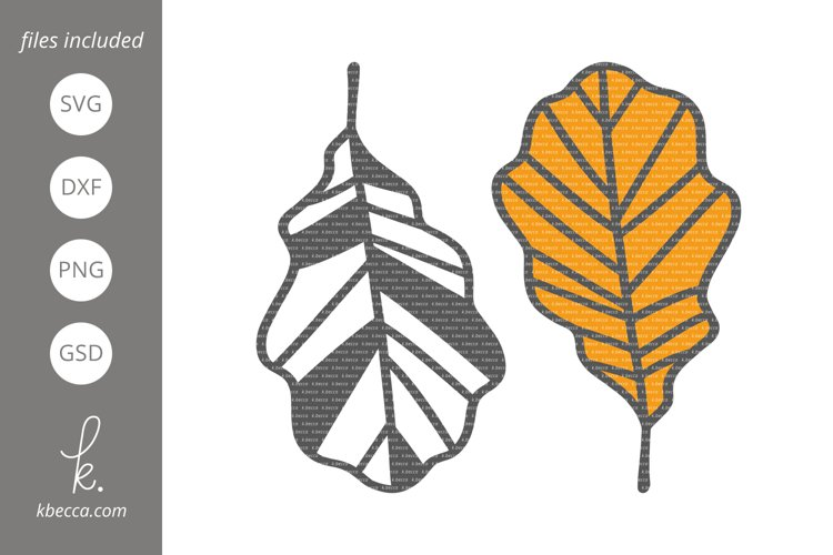 Fall Leaf #7 SVG Cut Files example image 1