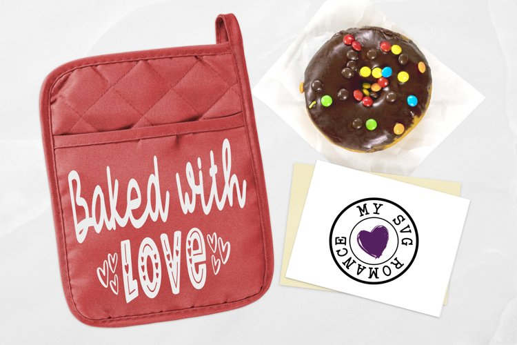 Baked With Love Pot Holder Design SVG DXF PNG