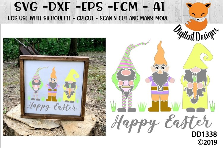 Easter Gnomes Happy Easter SVG example image 1
