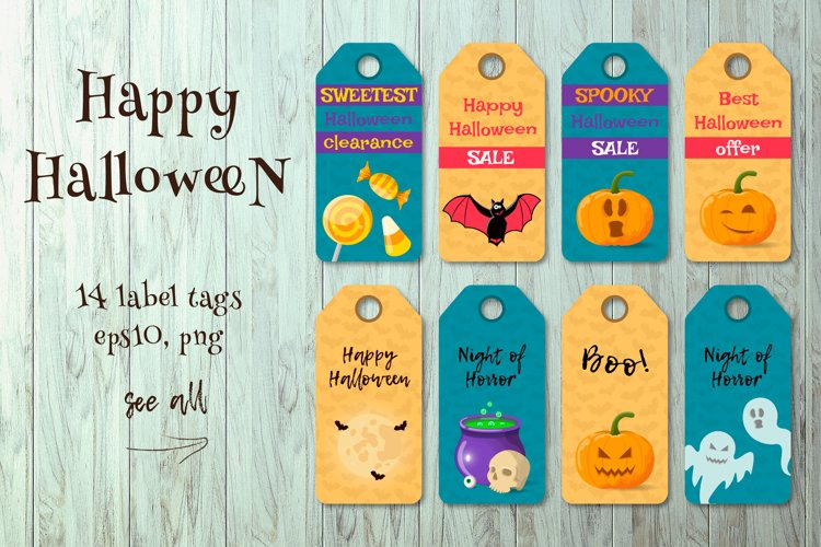 HALLOWEEN label tags. example image 1