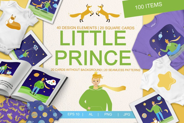 The Little Prince - Set of Illustrations example image 1