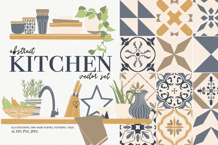 Abstract Kitchen vector clipart
