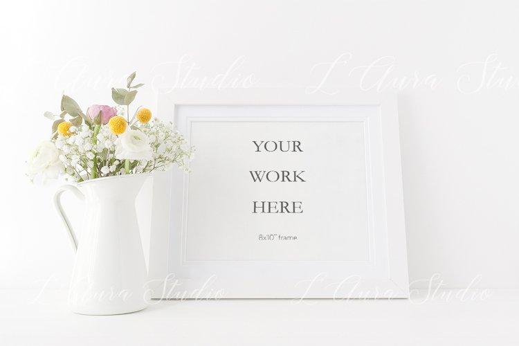 Landscape frame mockup - floral 8x10 example image 1