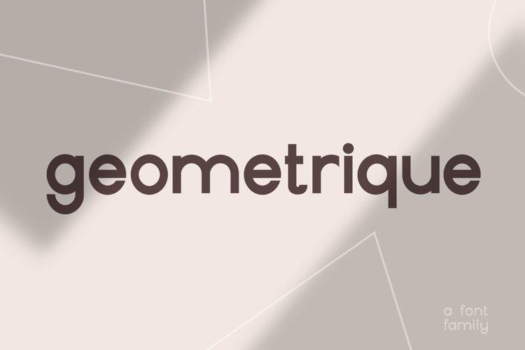 Geometrique | Sans Font Family