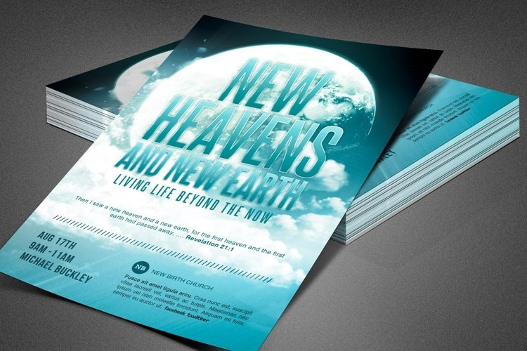 New Heaven and Earth Church Flyer example image 1