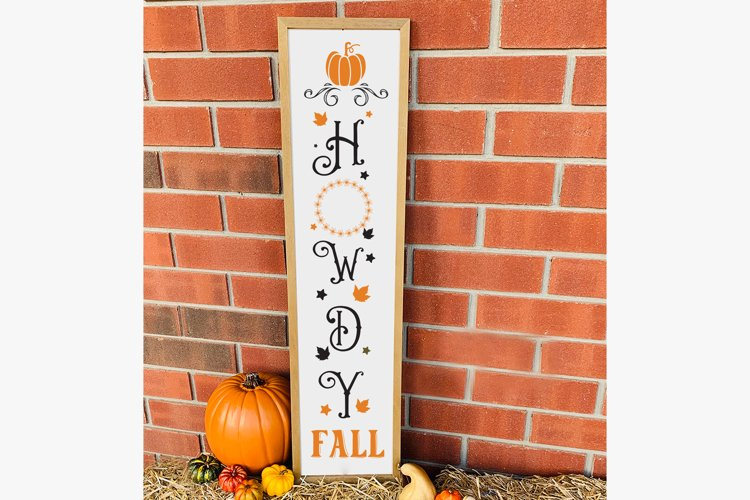 Howdy Fall, Fall Porch Sign, Autumn SVG Cut File, Fall SVG example image 1