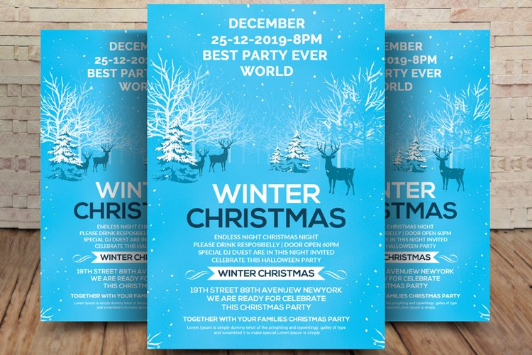 Winter Holiday Concert Flyer example image 1