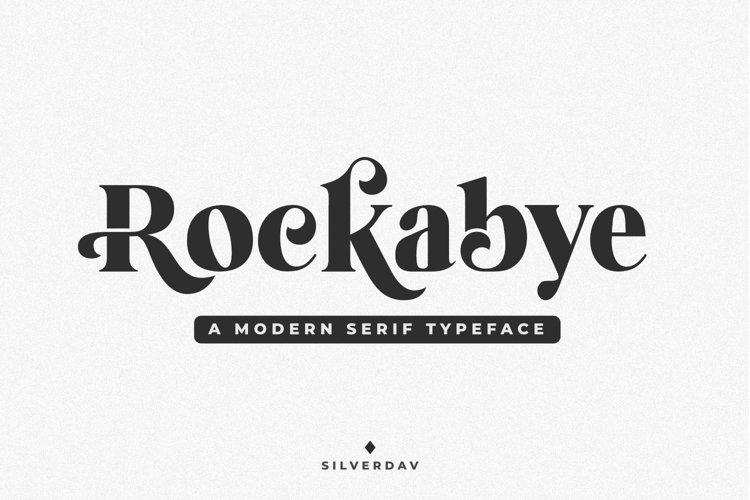 Rockabye - A Modern Serif Typeface example image 1