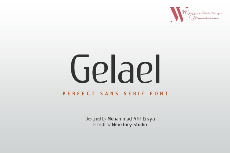 Gelael Sans Serif Font | 8 Style example image 1