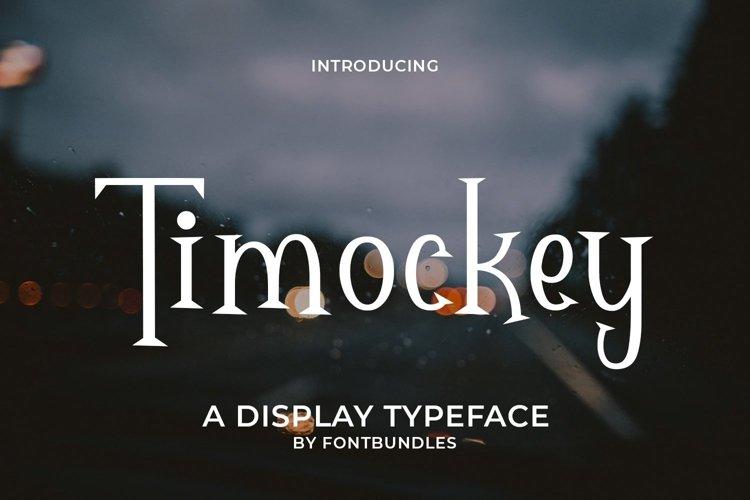 Web Font Timockey example image 1