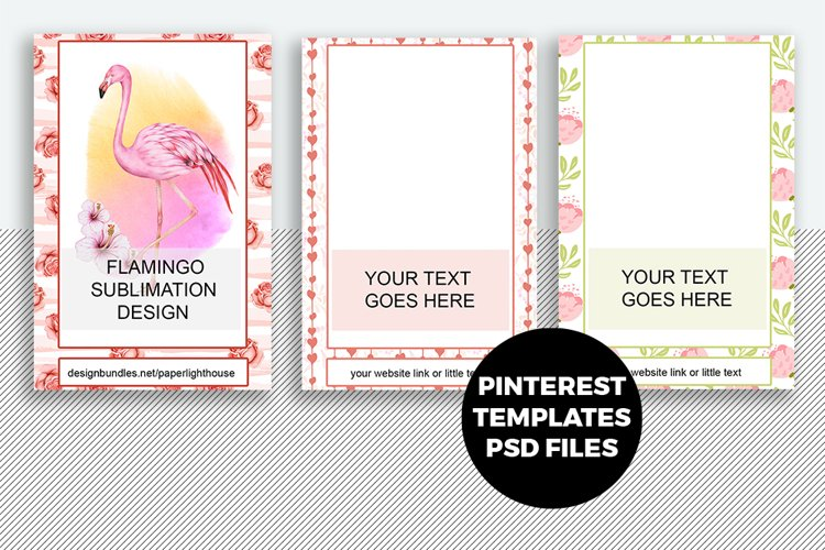 Pinterest Templates PSD files with Smart object