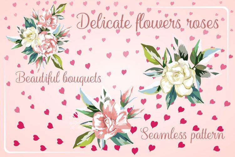 Delicate beautiful flowers roses