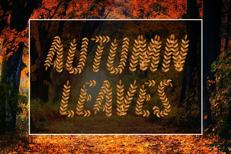 Autumn Leaves SVG Font example image 1