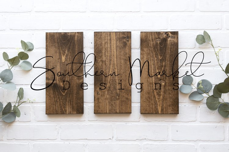 6x12 3 sign set Wood Sign Mock Up Collage Farmhouse Styled example image 1