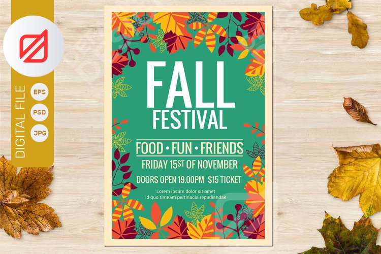 Fall Festival Autumn Party Flyer example image 1