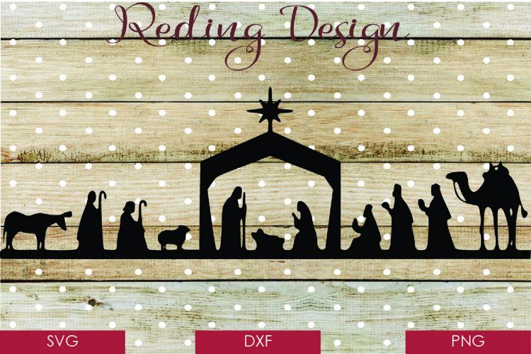 Nativity Scene - Christmas SVG DXF PNG Digital Cut File