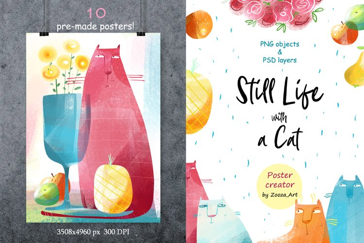 Still Life with a Cat - poster creator example image 1