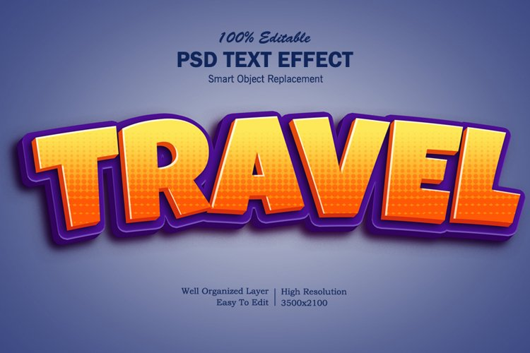 Travel 3D Text Effects example image 1