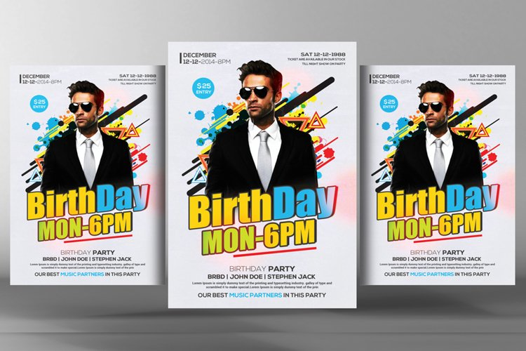 Birthday Flyer Template example image 1
