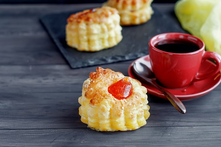 Breakfast coffee flaky pastry example image 1