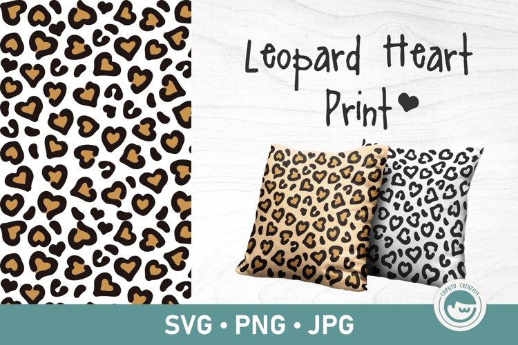 Leopard Heart Print svg | Seamless Pattern