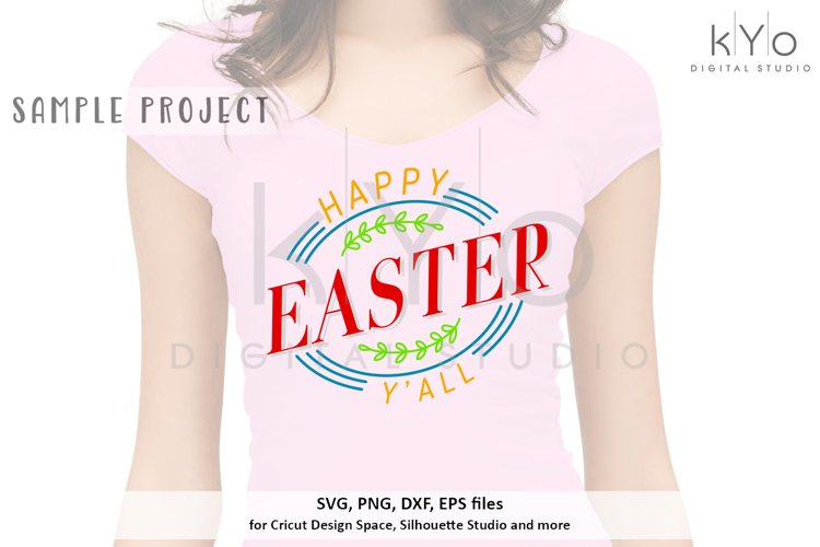 Happy Easter Yall Design SVG DXF PNG EPS files