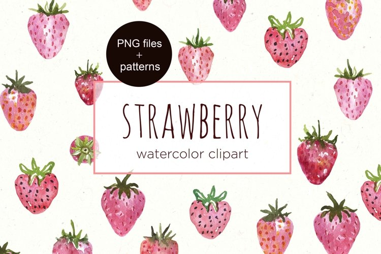 Strawberry Clipart Watercolor Berry Strawberries clip art example image 1