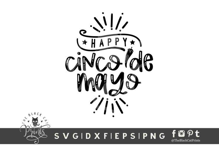 Happy Cinco De Mayo SVG | Mexican Fiesta SVG Cut File