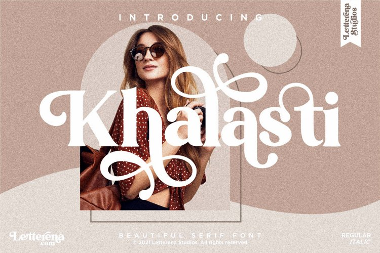 Khalasti - Beautiful Serif Font example image 1