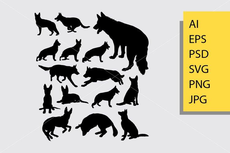 Dog animal silhouette example image 1