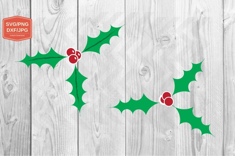 Holy Christmas. SVG file, PNG JPG PDF DXF, Cut file print example image 1