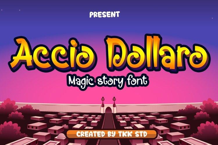 Accio Dollaro - Funny Magic Font example image 1