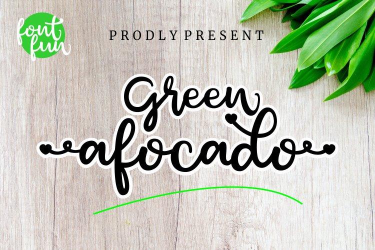 Green afocado example image 1