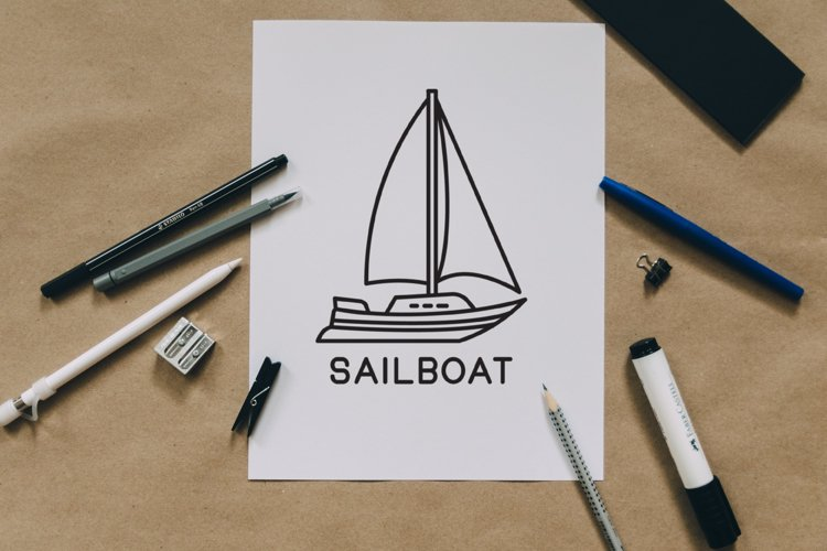 sailboat outline design example image 1