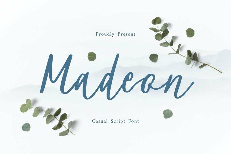 Web Font Madeon Script Font example image 1