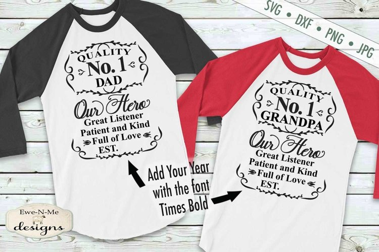 Fathers Day | No. 1 Dad | Grandpa | Fathers Day Label | SVG example image 1
