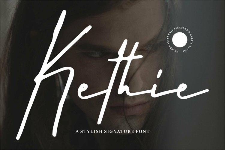 Web Font Kethie - A Stylish Signature Font example image 1