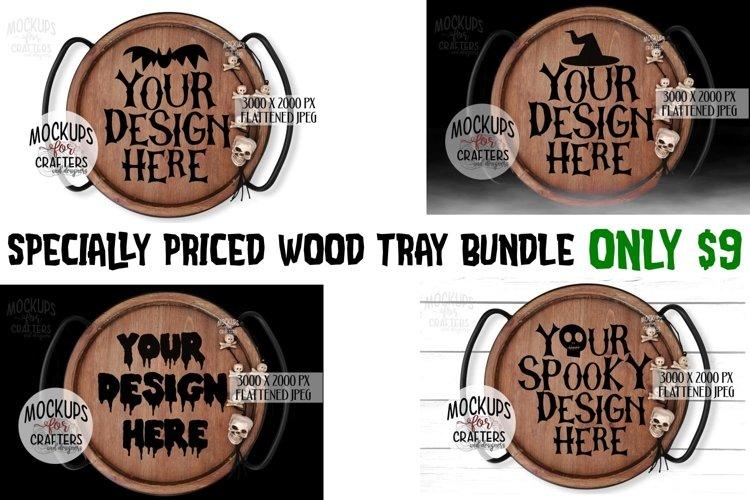 Wood Tray Mini Bundle, Round Trays, Halloween theme example image 1