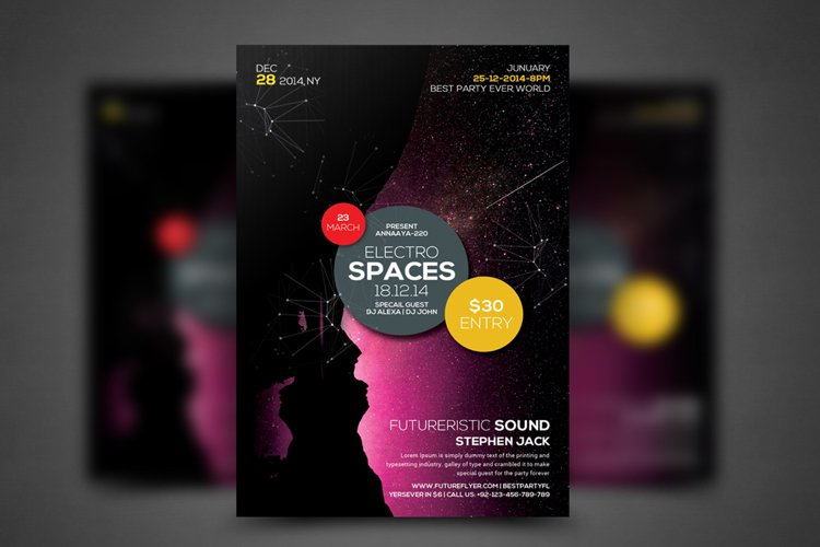 Minimal Colors Flyer Template example image 1