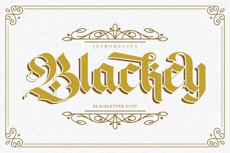 Blackey Blackletter Font example image 1