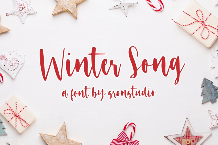 Winter Song Font example image 1