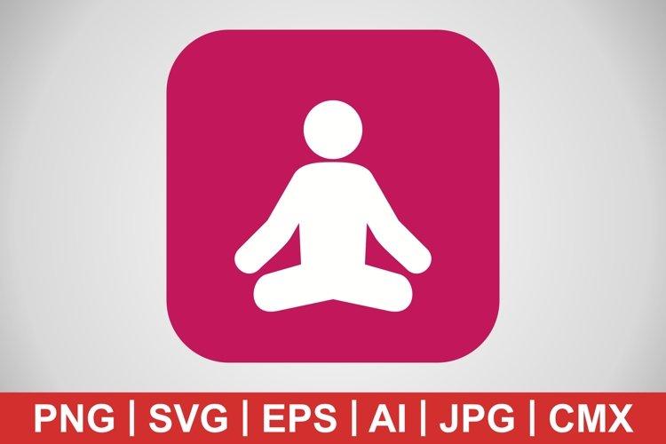 Vector Yoga Icon example image 1