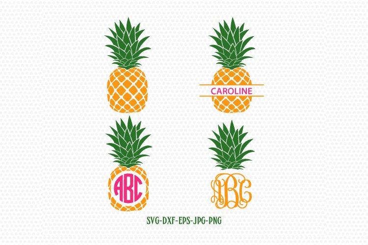 Pineapple Svg Pineapple Monogram Frames Svg Pineapple Frames